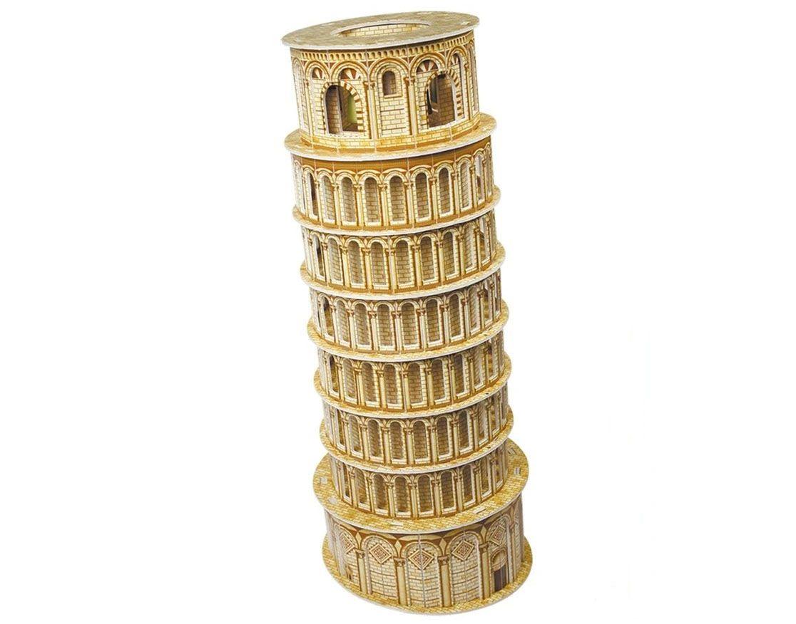 Quebra-cabeça 3D (3D Puzzle) Torre de Pisa - Cubic Fun MC053h  - BLIMPS COMÉRCIO ELETRÔNICO