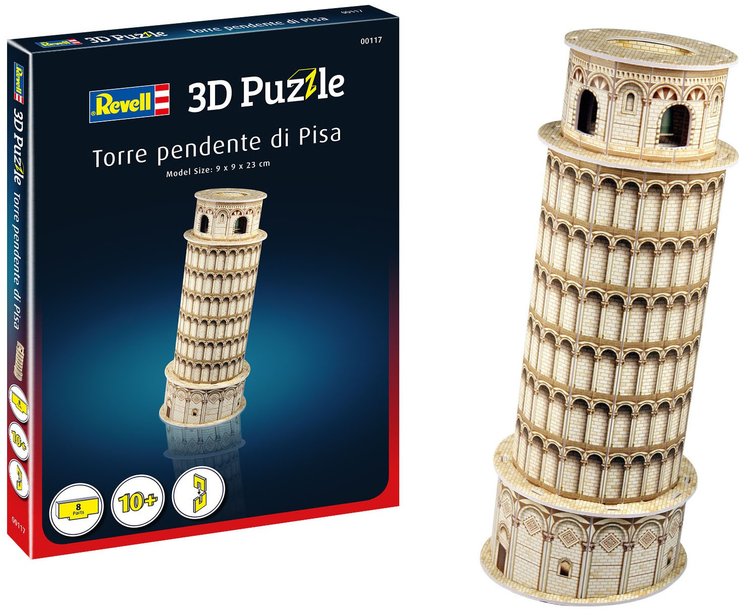 Quebra-cabeça 3D (3D Puzzle) Torre de Pisa - Revell 00117  - BLIMPS COMÉRCIO ELETRÔNICO