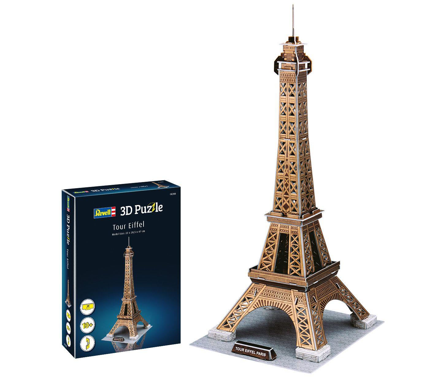 Quebra-cabeça 3D (3D Puzzle) Torre Eiffel - Revell 00200  - BLIMPS COMÉRCIO ELETRÔNICO