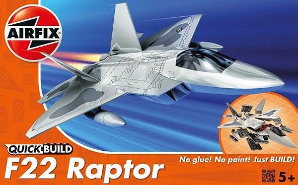 Quick Build F22 Raptor - Airfix J6005  - BLIMPS COMÉRCIO ELETRÔNICO