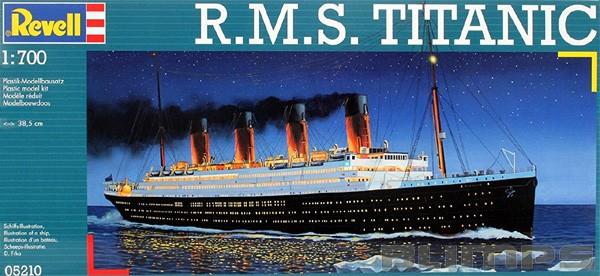 R.M.S. Titanic - 1/700 - Revell 05210  - BLIMPS COMÉRCIO ELETRÔNICO