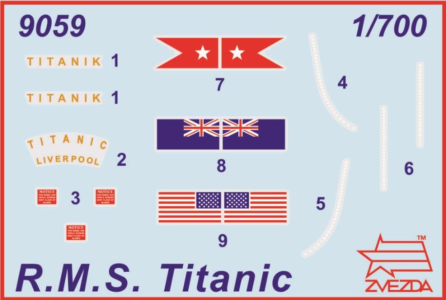 R.M.S. Titanic - 1/700 - Zvezda 9059  - BLIMPS COMÉRCIO ELETRÔNICO