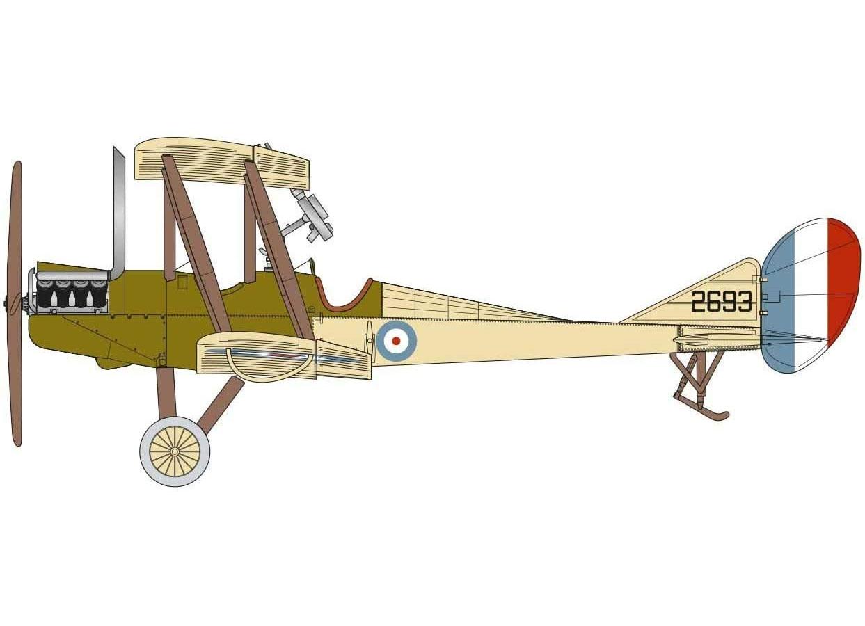 Royal Aircraft Factory BE2c - 1/72 - Airfix A02101  - BLIMPS COMÉRCIO ELETRÔNICO
