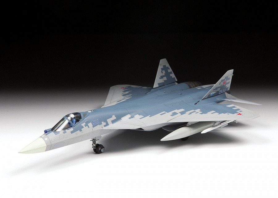 Russian fifth-generation fighter SU-57 - 1/72 - Zvezda 7319  - BLIMPS COMÉRCIO ELETRÔNICO