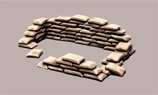 Sand bags - Sacos de areia - 1/35 - Italeri 406  - BLIMPS COMÉRCIO ELETRÔNICO