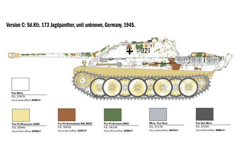 Sd.Kfz. 173 Jagdpanther with winter crew - 1/35 - Italeri 6564  - BLIMPS COMÉRCIO ELETRÔNICO