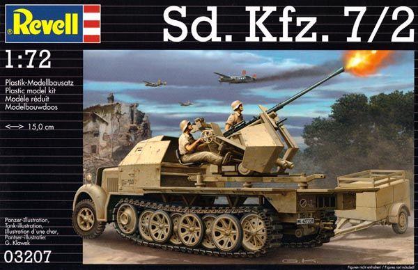 Sd.Kfz. 7/2 - 1/72 - Revell 03207  - BLIMPS COMÉRCIO ELETRÔNICO