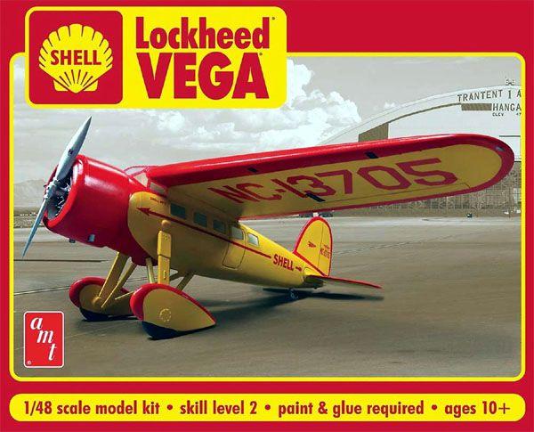 Shell Oil Lockheed VEGA - 1/48 - AMT 950  - BLIMPS COMÉRCIO ELETRÔNICO