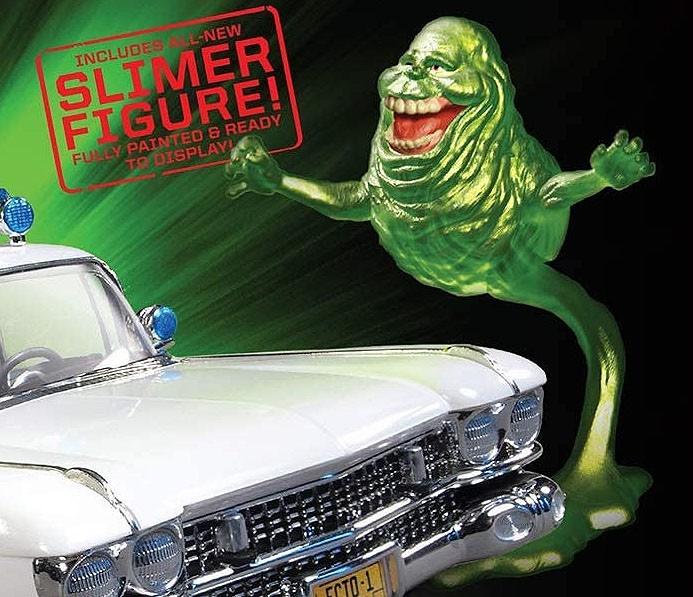 Snap Ghostbusters Ecto-1 com Slimer - 1/25 - Polar Lights POL958  - BLIMPS COMÉRCIO ELETRÔNICO