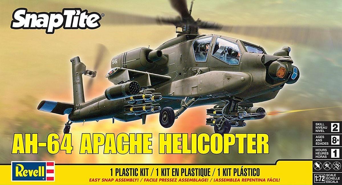 SnapTite AH-64 Apache Helicopter - 1/72 - Revell 85-1183  - BLIMPS COMÉRCIO ELETRÔNICO