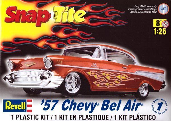 SnapTite Chevy Bel Air 1957 - 1/25 - Revell 85-1931  - BLIMPS COMÉRCIO ELETRÔNICO