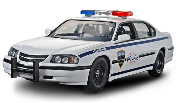 SnapTite Chevy Impala Police Car - 1/25 - Revell 85-1928  - BLIMPS COMÉRCIO ELETRÔNICO