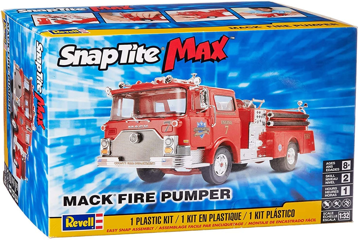 SnapTite Max Mack Fire Pumper - 1/32 - Revell 85-1225  - BLIMPS COMÉRCIO ELETRÔNICO
