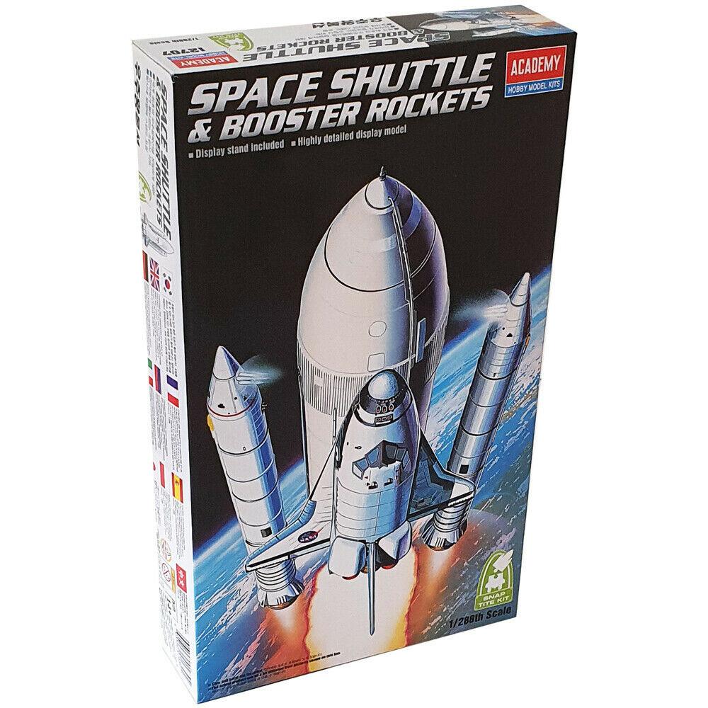 Space Shuttle & Booster Rocket - 1/288 - Academy 12707  - BLIMPS COMÉRCIO ELETRÔNICO