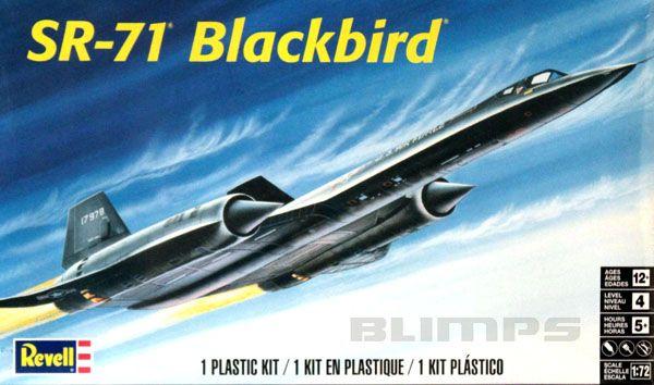 SR-71 Blackbird - 1/72 - Revell 85-5810  - BLIMPS COMÉRCIO ELETRÔNICO
