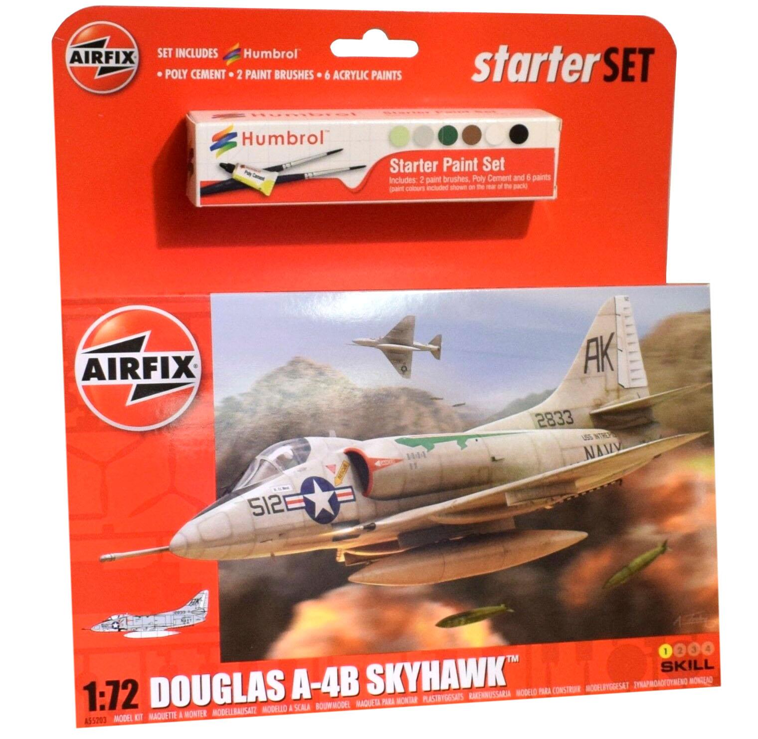 Starter Set Douglas A-4B Skyhawk - 1/72 - Airfix A55203  - BLIMPS COMÉRCIO ELETRÔNICO