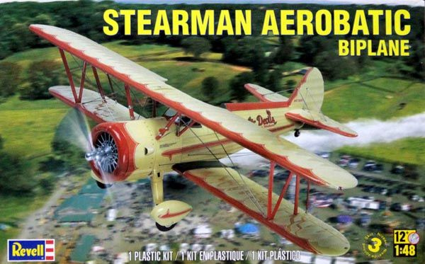 Stearman Aerobatic Biplane - 1/48 - Revell 85-5269  - BLIMPS COMÉRCIO ELETRÔNICO
