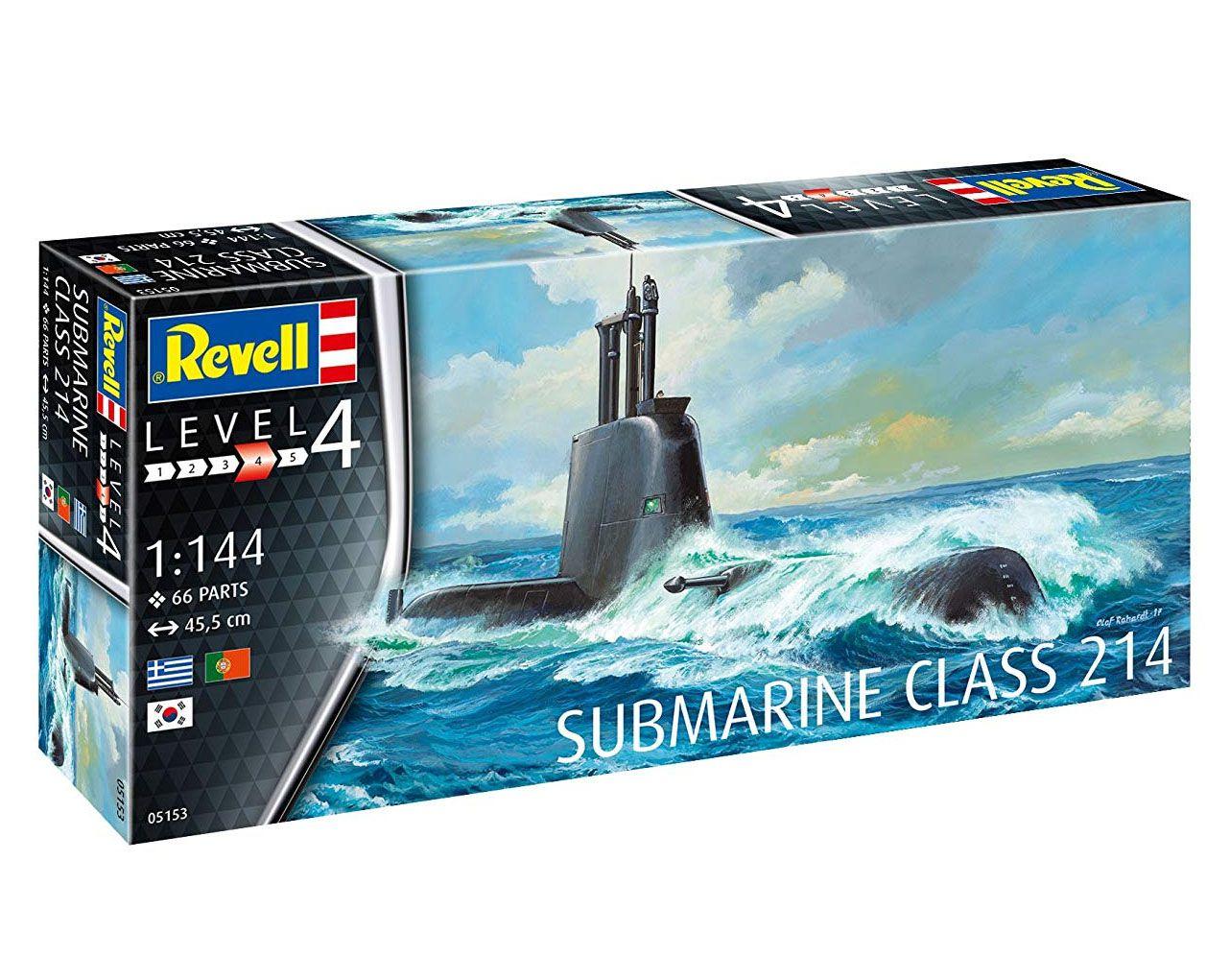 Submarine Class 214 - 1/144 - Revell 05153  - BLIMPS COMÉRCIO ELETRÔNICO