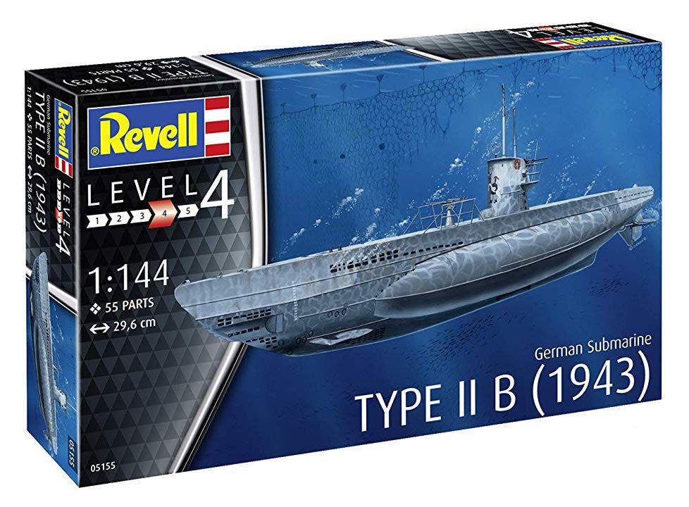 Submarino alemão Type II B (1943) - 1/144 - Revell 05155  - BLIMPS COMÉRCIO ELETRÔNICO