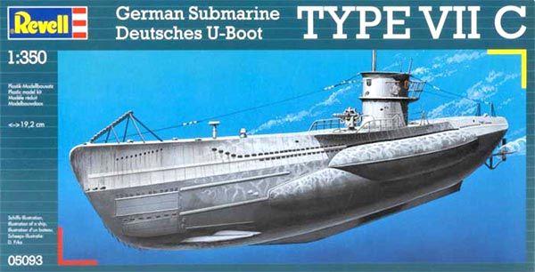 Submarino Alemão Type VII C - 1/350 - Revell 05093  - BLIMPS COMÉRCIO ELETRÔNICO