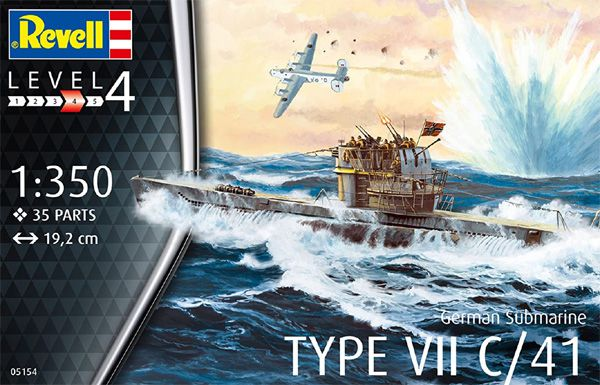 Submarino alemão Type VII C/41 - 1/350 - Revell 05154  - BLIMPS COMÉRCIO ELETRÔNICO