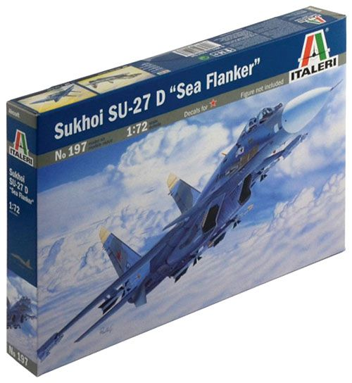 Sukhoi Su-27 D Sea Flanker - 1/72 - Italeri 197  - BLIMPS COMÉRCIO ELETRÔNICO