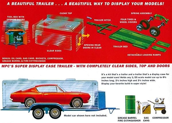 Super Display Case Trailer - 1/25 - MPC 909  - BLIMPS COMÉRCIO ELETRÔNICO