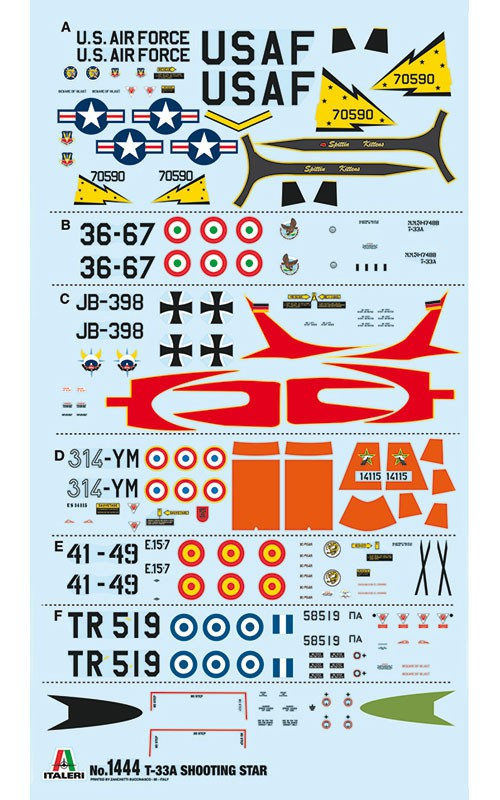 T-33A Shooting Star - 1/72 - Italeri 1444  - BLIMPS COMÉRCIO ELETRÔNICO