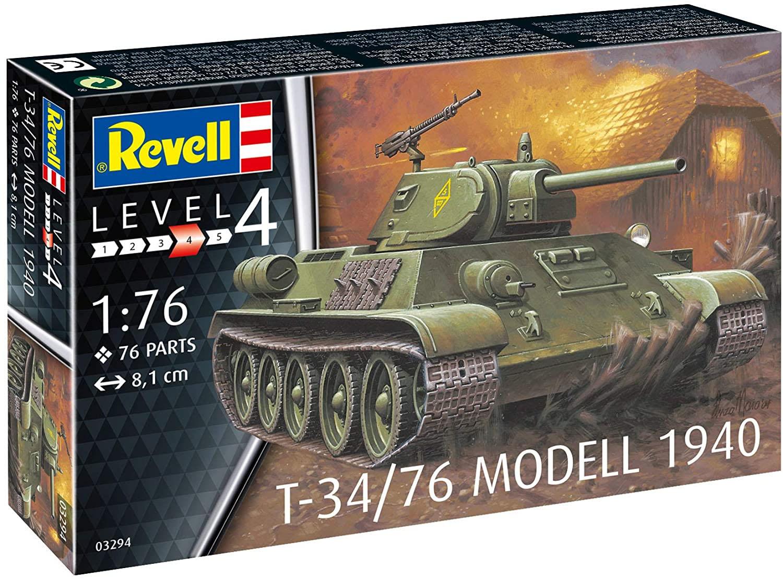 T-34/76 Modelo 1940 - 1/76 - Revell 03294  - BLIMPS COMÉRCIO ELETRÔNICO