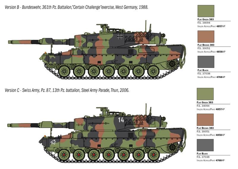Tanque Leopard 2A4 - 1/35 - Italeri 6559  - BLIMPS COMÉRCIO ELETRÔNICO