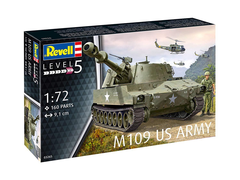 Tanque M109 US Army - 1/72 - Revell 03265  - BLIMPS COMÉRCIO ELETRÔNICO