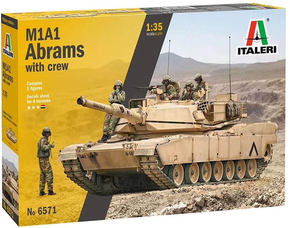 Tanque M1A1 Abrams com tripulação - 1/35 - Italeri 6571  - BLIMPS COMÉRCIO ELETRÔNICO