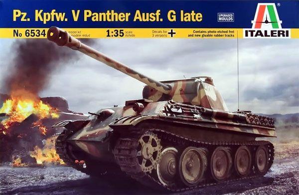 Tanque Pz.Kpfw.V Panther Ausf.G late - 1/35 - Italeri 6534  - BLIMPS COMÉRCIO ELETRÔNICO