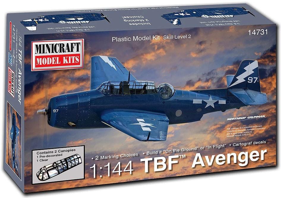 TBF Avenger - 1/144 - Minicraft 14731  - BLIMPS COMÉRCIO ELETRÔNICO