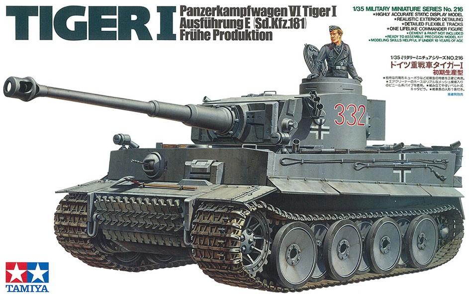 Tiger I Early Production - 1/35 - Tamiya 35216  - BLIMPS COMÉRCIO ELETRÔNICO