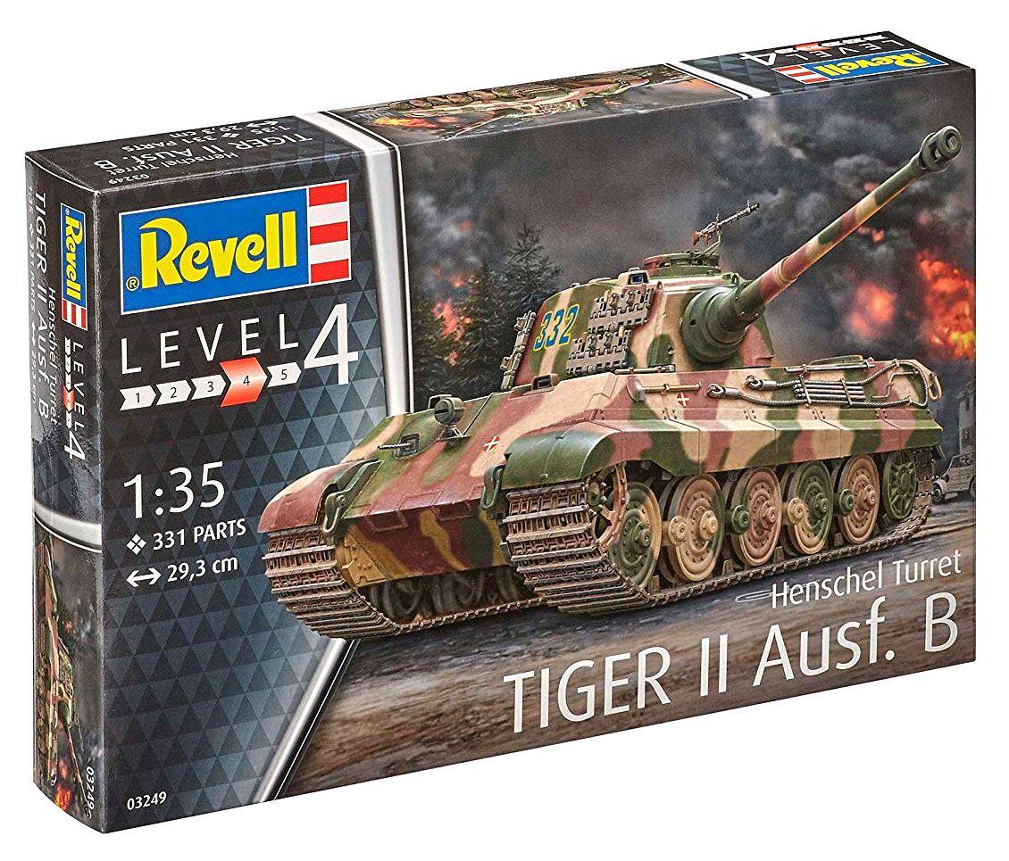 Tiger II Ausf. B - Henschel Turret - 1/35 - Revell 03249  - BLIMPS COMÉRCIO ELETRÔNICO