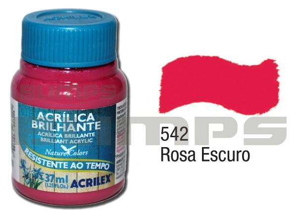 Tinta Acrílica Brilhante 542 Rosa Escuro (37 ml) - Acrilex 033400542  - BLIMPS COMÉRCIO ELETRÔNICO
