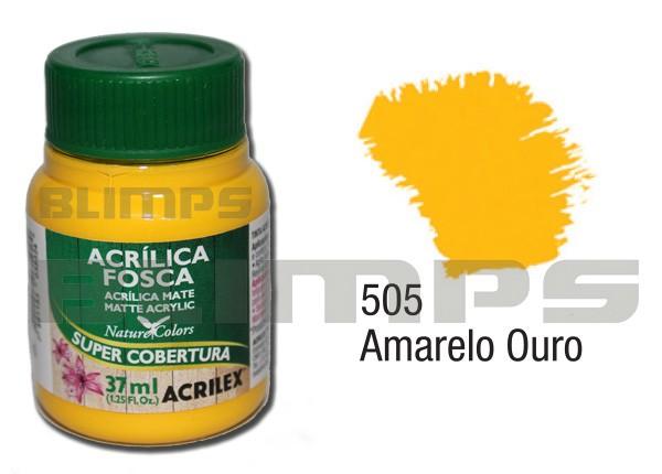 Tinta Acrílica Fosca 505 Amarelo Ouro (37 ml) - Acrilex 035400505  - BLIMPS COMÉRCIO ELETRÔNICO