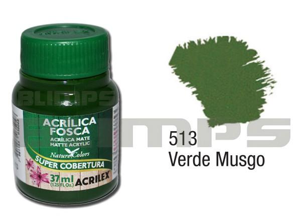 Tinta Acrílica Fosca 513 Verde Musgo (37 ml) - Acrilex 035400513  - BLIMPS COMÉRCIO ELETRÔNICO