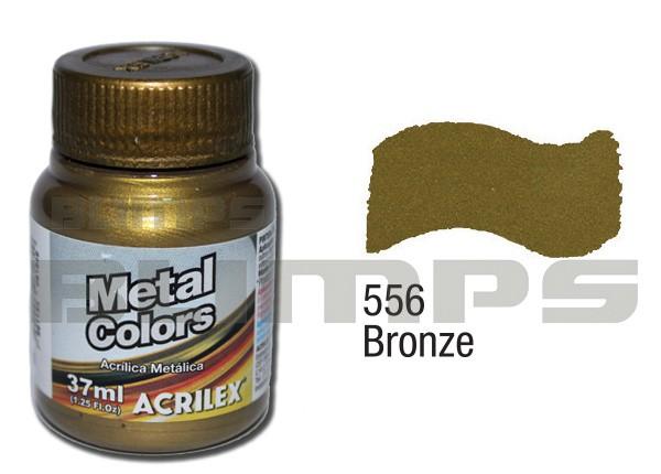 Tinta Acrílica Metalizada (Metal Color) 556 Bronze (37 ml) - Acrilex 036400556  - BLIMPS COMÉRCIO ELETRÔNICO