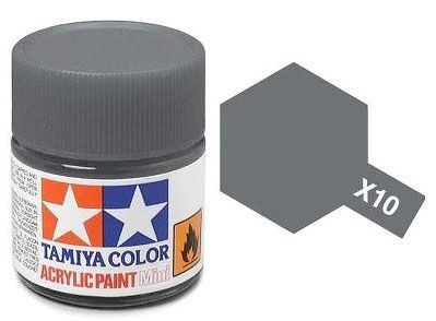 Tinta Acrílica Mini X-10 Gun Metal (10 ml) - Tamiya 81510  - BLIMPS COMÉRCIO ELETRÔNICO