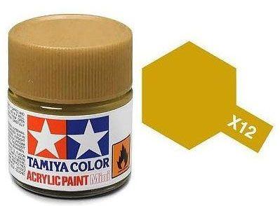 Tinta Acrílica Mini X-12 Folha de Ouro (10 ml) - Tamiya 81512  - BLIMPS COMÉRCIO ELETRÔNICO
