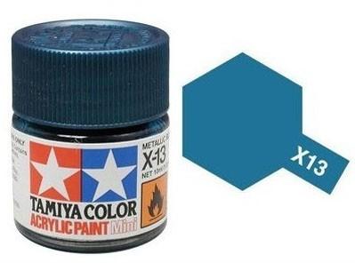 Tinta Acrílica Mini X-13 Azul Metálico (10 ml) - Tamiya 81513  - BLIMPS COMÉRCIO ELETRÔNICO
