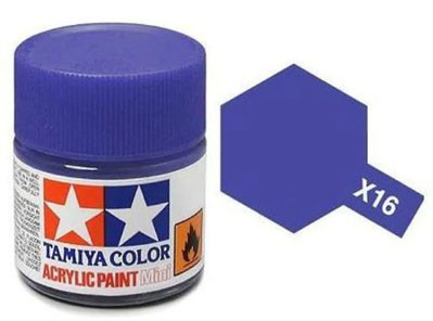Tinta Acrílica Mini X-16 Púrpura (10 ml) - Tamiya 81516  - BLIMPS COMÉRCIO ELETRÔNICO