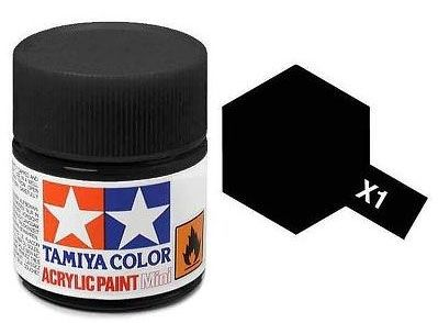 Tinta Acrílica Mini X-1 Preto (10 ml) - Tamiya 81501  - BLIMPS COMÉRCIO ELETRÔNICO