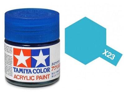 Tinta Acrílica Mini X-23 Azul Claro (10 ml) - Tamiya 81523  - BLIMPS COMÉRCIO ELETRÔNICO