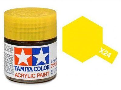 Tinta Acrílica Mini X-24 Amarelo Claro (10 ml) - Tamiya 81524  - BLIMPS COMÉRCIO ELETRÔNICO