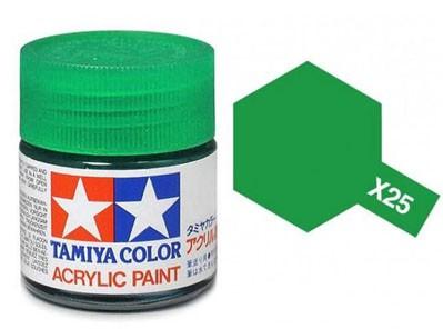 Tinta Acrílica Mini X-25 Verde Claro (10 ml) - Tamiya 81525  - BLIMPS COMÉRCIO ELETRÔNICO