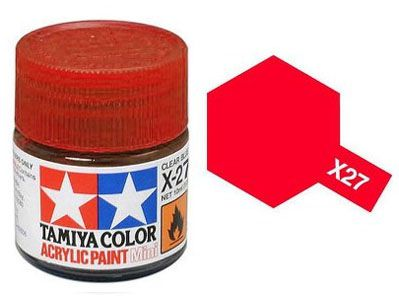 Tinta Acrílica Mini X-27 Vermelho Claro (10 ml) - Tamiya 81527  - BLIMPS COMÉRCIO ELETRÔNICO