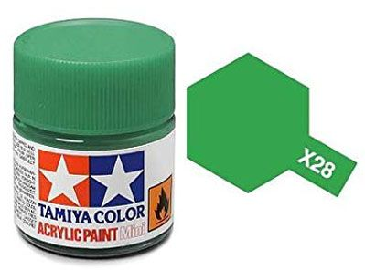 Tinta Acrílica Mini X-28 Verde Parque (10 ml) - Tamiya 81528  - BLIMPS COMÉRCIO ELETRÔNICO